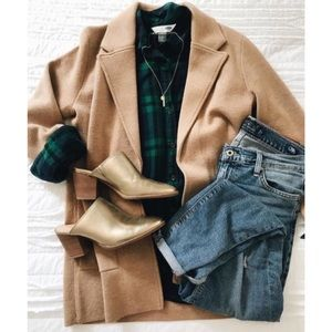 J. Crew 'Sophie' open-front sweater-blazer (CAMEL)